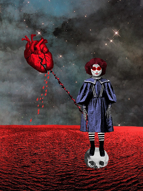 Broken Sugar skull Child and the Red Balloon