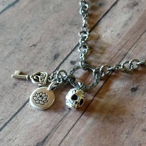 Triquetra Celtic knot Death Lotus Enlightenment CHARM NECKLACE