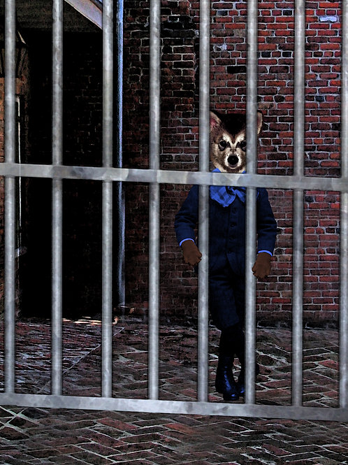 Cage of the Werewolf aka Victorian art anthro Boy Wolf Cub
