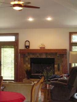 Prairie Style Fireplace