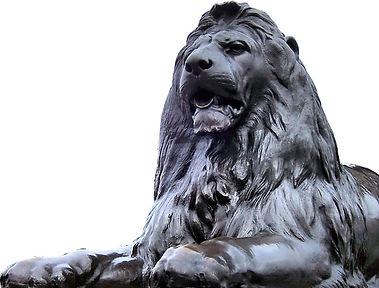 A London Lion lying down - the emblem of Liars
