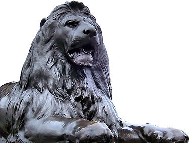 A London Lion lying down - the emblem of Liars