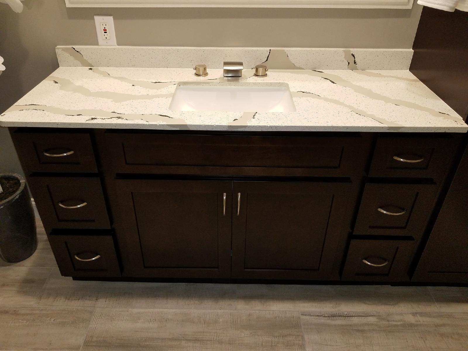 Quartz & Recycled Glass Countertops