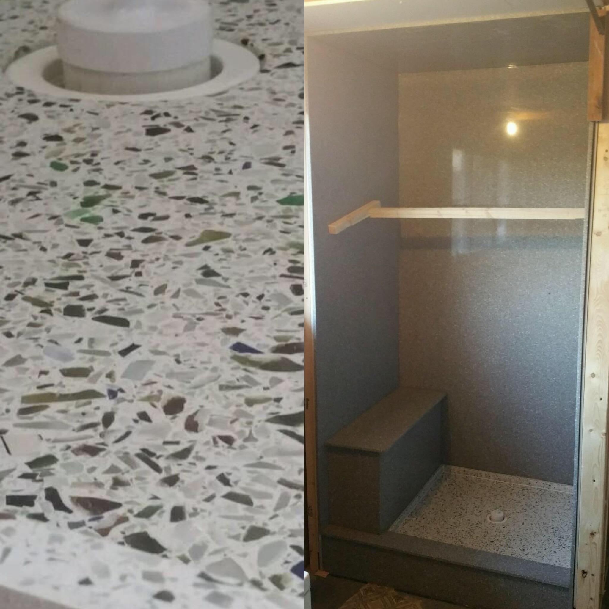 Quartz Shower Base and Walls