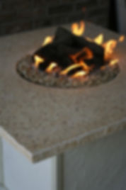 Quartz Recycled Glass Fire pit