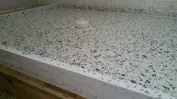 Quartz shower base