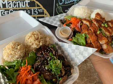 Kalbi Plate and our Chicken Katsu!