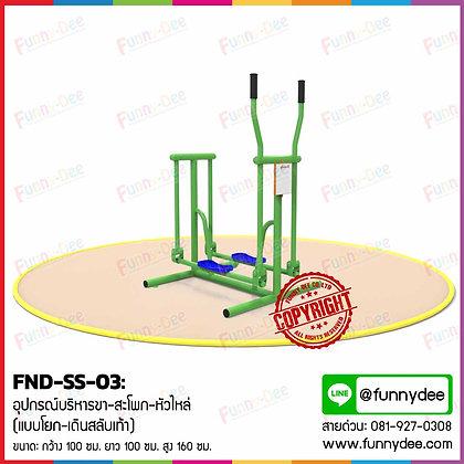 FND-SS-03 : อุปกรณ์บริหารขา-สะโพก-หัวไหล่  (แบบโยก-เดินสลับเท้า)