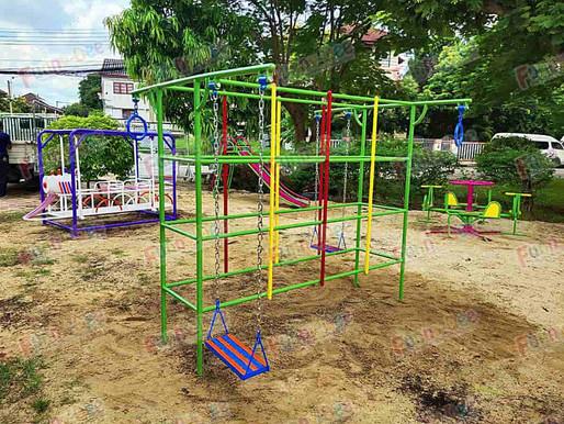 ผลงานการติดตั้งอุปกรณ์สนามเด็กเล่น ติดตั้งที่ รามอินทรา กม.8