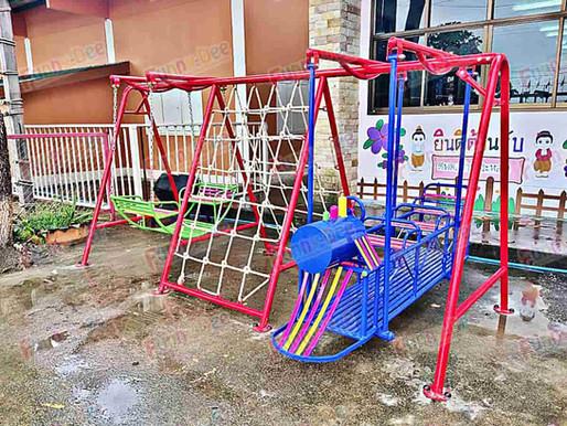 ผลงานการติดตั้งอุปกรณ์สนามเด็กเล่น ติดตั้งที่ อบต.แม่วงก์ จ.นครสวรรค์