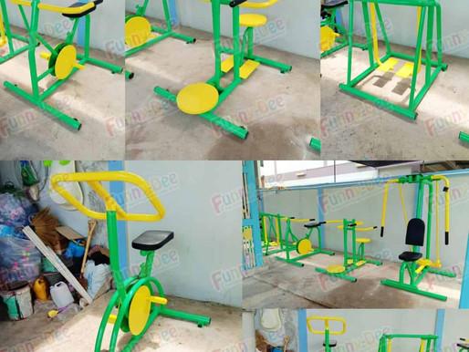 ผลงานการผลิตเครื่องออกกำลังกายแจ้ง ติดตั้งที่เขตทุ่งครุ กรุงเทพมหานคร