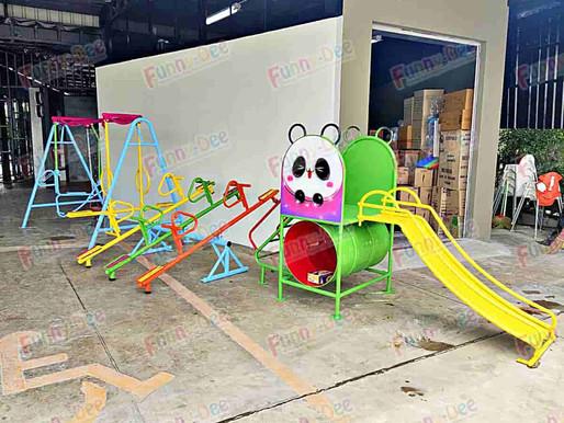 ผลงานการติดตั้งอุปกรณ์สนามเด็กเล่น ติดตั้งที่ บจ.วรานิชา อินเทอร์เนชันนอล จำกัด