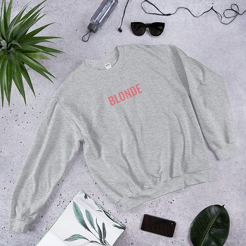 Blonde Unisex Crew Neck Sweatshirt