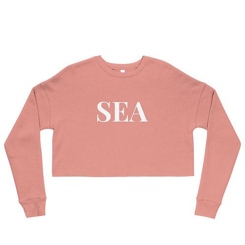 "Crop ""SEA"" Sweatshirt"