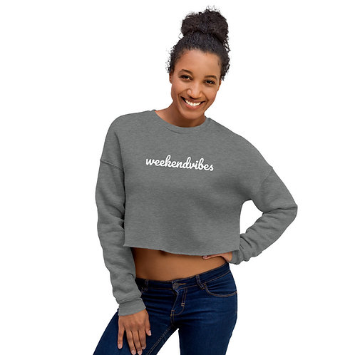 Weekend Vibes Crop Sweatshirt