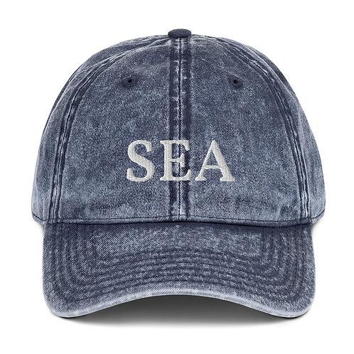 "Vintage Cotton Twill Cap |  ""Sea"" Collection"