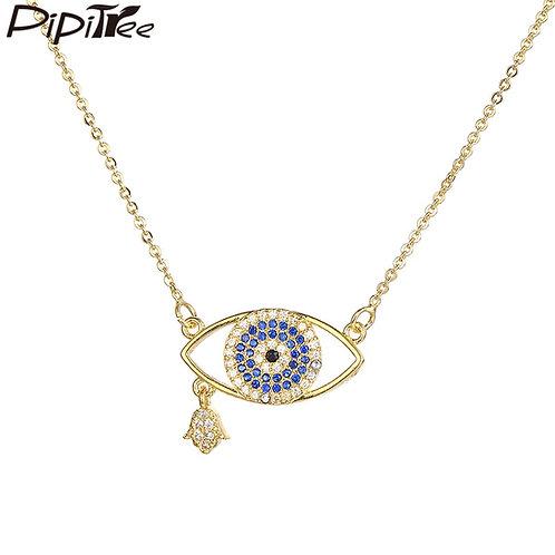 Zircon Protection & Lucky Universal Eye Pendant Necklace