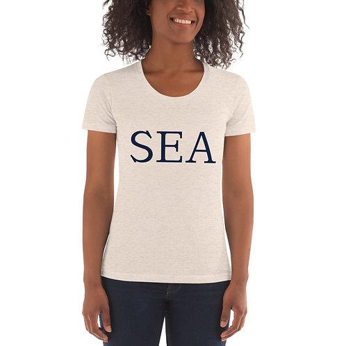 "Women's ""SEA"" Crew Neck T-shirt"