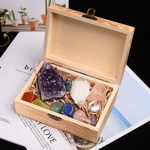 7 Natural Healing Crystal Stones | Mineral Gift Box