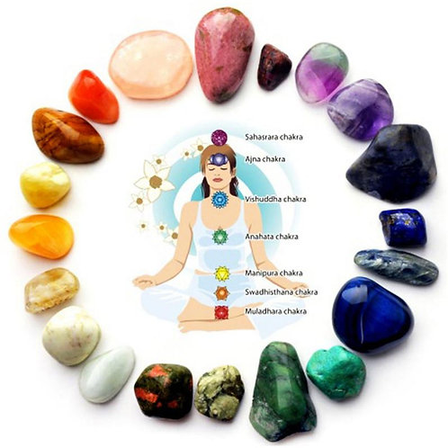 Natural 7 Colors/Set Yoga Energy Stone Chakra Stone
