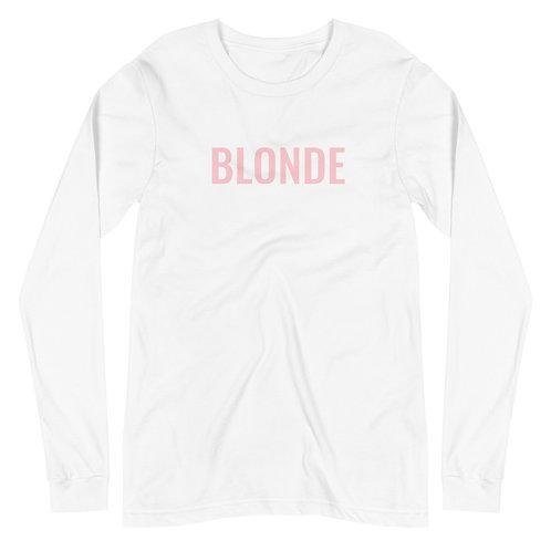 Unisex Blonde Long Sleeve Tee