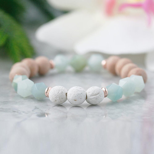 Aromatherapy Anxiety Relief Healing Crystals Bracelet