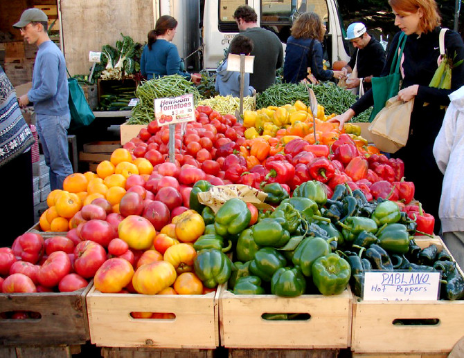 How exciting it was to visit the farmers market yesterday...