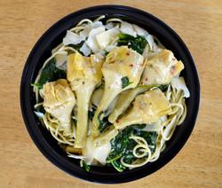 Spaghetti Artichokes Romana Spinach