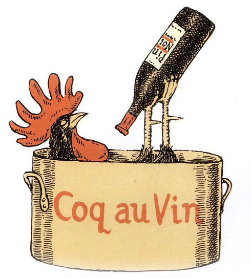 Coq Au Vin (Rooster in wine)...