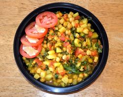 Garbanzo Beans Tomatoes Turnips