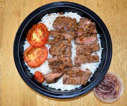 Skewerless Beef Kabob Basmati Rice