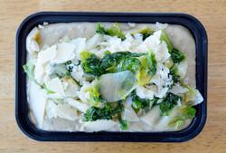 4-Mashed Fava Beans Sauteed Escarole Parmesan