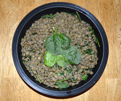 Lentils spinach