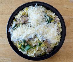 Orzo Mushrooms Leek Spinach