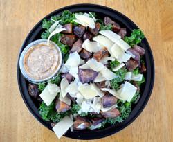 Kale CaesarPurple Potato Croutons