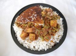 Tofu Green Beans Rice