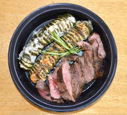 Steak Hasselback Zucchini