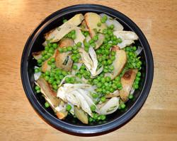Roasted Potatoes Fennel Peas