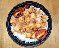 Skewerless Tofu Kabob Basmati Rice