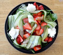 Stawberry Cuke Ribbon Salad
