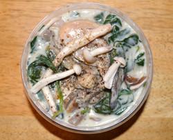 Wild Mushroom Spinach Sauce