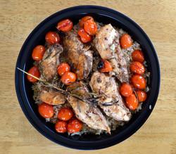 Roasted Balsamic Chicken Cherry Tomatoes