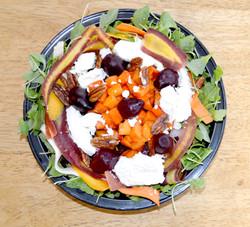 Arugula Beets Persimmon Salad