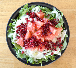 Arugula Shaved Fennel Grapefruit Pomegranate Salad