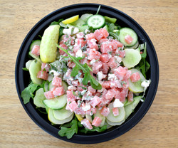 3Cucumbers Arugula Salad