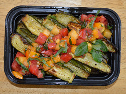 Roasted Courgettes Tomato-Mint Relish