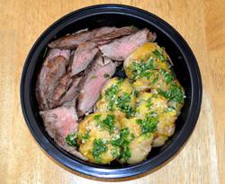 Flank Steak Potatoe da delfina