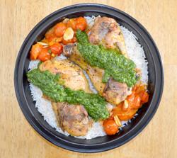 Chicken Drumsticks Arugula Pistou Rice