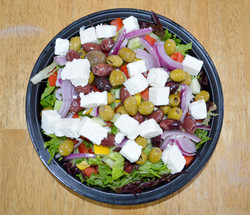 Young lettuce Greek Style Salad
