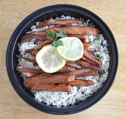 Sabzi Polow Smoked Salmon